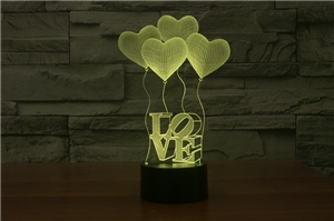 Laser Lamp - Love and Heart Balloons