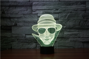 Laser Lamp - Smoking Guy