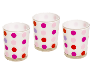 Dots Candle Holder - Pink/Red/Purple