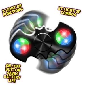 Spinz Gotham Bat Flashing Fidget Spinner (12 pc display)
