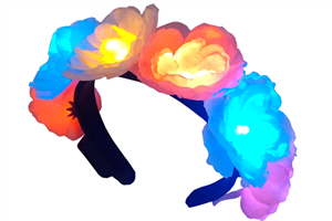 Flashing Flower Headband - Multicolor