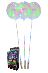 Light Up BoBo Balloon - Assorted (3 Pack Box)