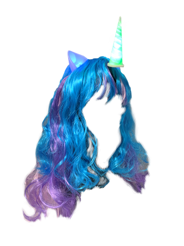 Unicorn Headband with Hair (each)