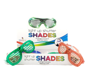 WeGlow Light up Shutter Shades (12pc PDQ)
