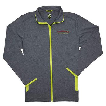 Men's Contrast Jacket - Charcoal Grey / Charge Green