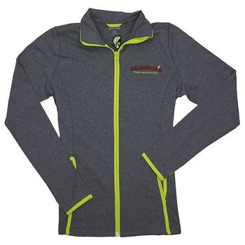 Ladies Contrast Jacket - Charcoal Grey / Charge Green