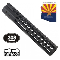 "GUNTECH USA .308 12"" ULTRA LW THIN KEYMOD RAIL"