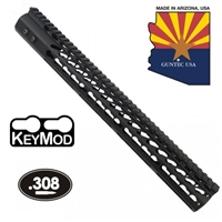 "GUNTECH USA .308 16.5"" ULTRA LW THIN KEYMOD RAIL"