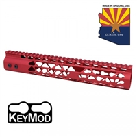 "GUNTECH USA 12"" AIR LITE KEYMOD ""RED"" RAIL"