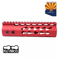 "GUNTECH USA 7"" ULTRA LW THIN KEYMOD ""RED"" RAIL"