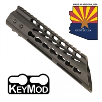 "GUNTECH USA 9"" ULTRA LW THIN KEYMOD RAIL W/ SLANT NOSE"