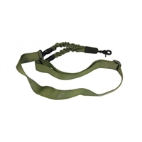 "ONE POINT BUNGEE SLING ""GREEN"" WITH QD SNAP HOOK"