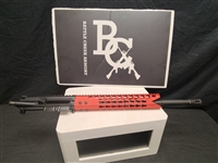 "AR15 5.56 WYLDE 16"" UPPER W/ 12"" RED SHARKMOUTH KEYMOD RAIL"