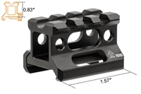 "UTG SUPER SLIM PICATINNY RISER MOUNT, 0.83"" HEIGHT"