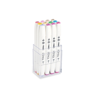 ShinHan TOUCH TWIN 12 BRUSH MARKER SET [Pastel Colors]