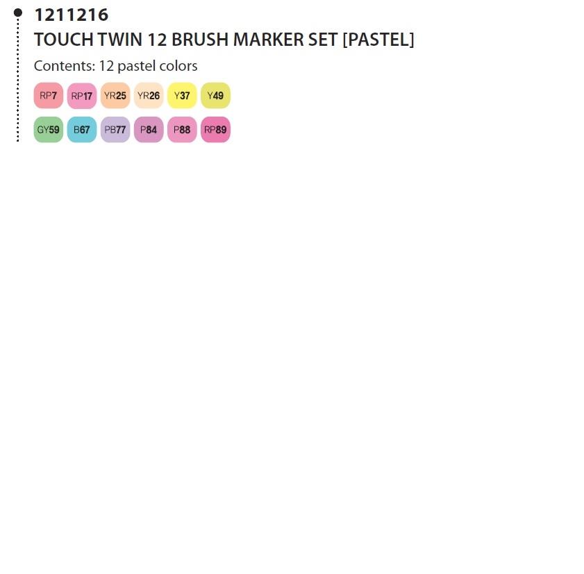 ShinHan Touch Twin 6 Pastel Colours Marker Pen Set
