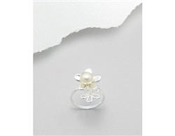 Fresh Water Pearl Flowers Sterling Silver Ring (8)