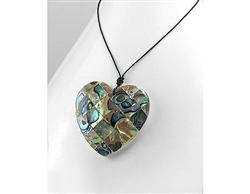 Abalone Shell Heart Shaped Necklace