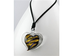 Glass Heart Pendant Necklace