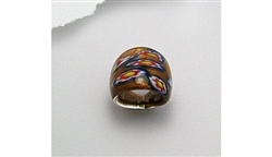 Flower Design Glass Ring (6.5)