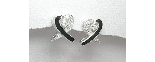 Cubic Zirconia Sterling Silver Stud Earrings