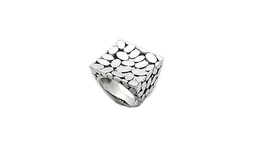 Sterling Silver Square Ring (9)