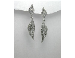 Marcasite Sterling Silver Dangle Earrings