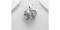 Marcasite Sterling Silver Heart Necklace