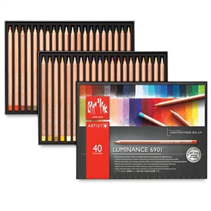 Caran d'Ache Luminance 6901 Colored Pencil Set 40pc