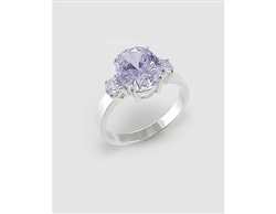 Lavender Cubic Zirconia Sterling Silver Ring (6)
