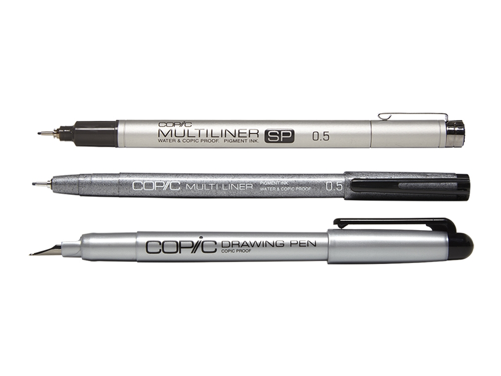 All Individual Copic Multiliners and Drawing Pens List