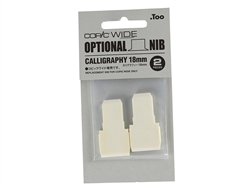 COPIC Wide Marker Nibs - Broad Calligraphy (Pack of 2) [18mm]