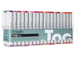 Copic Classic Markers 72 Color Set A - Broad Range Color Set