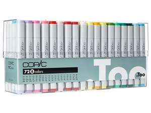Copic Classic Markers 72 Color Set B