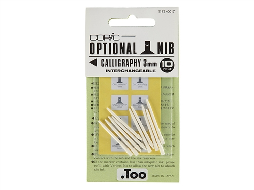 Copic Classic Nibs - Calligraphy 3mm (Set of 10)