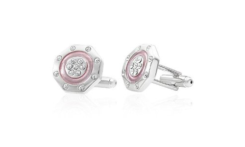 Cubic Zirconia Octagon Copper Cufflinks