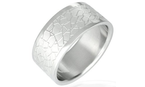 Cracked Design Stainless Steel Band-7