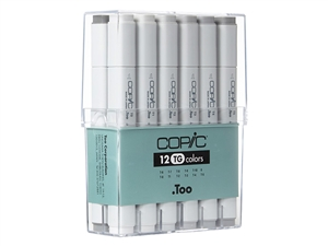 Copic Classic Markers 12 color set TG Toner Grays