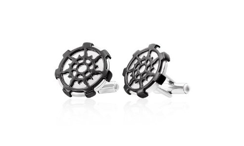 Two Tone Circles Stainless Steel Cufflinks