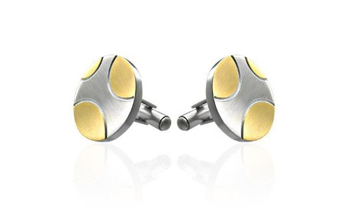 Epic Circles Stainless Steel Cufflinks