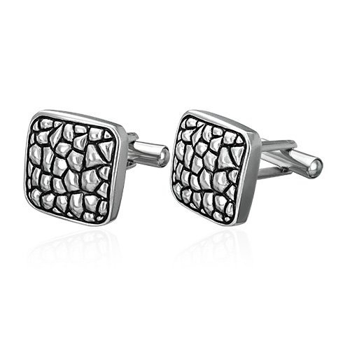 Modern Blister Style Stainless Steel Cufflinks
