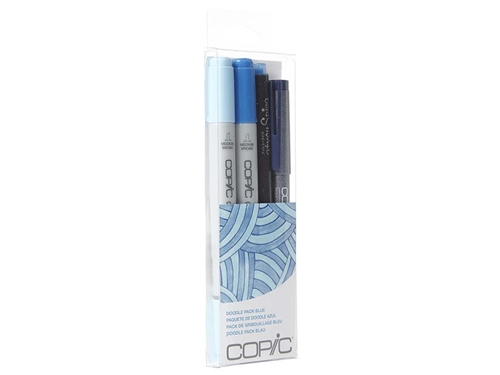 Copic Ciao 4pc Doodle Pack Blue marker set