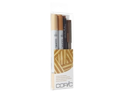 Copic Ciao 4pc Doodle Pack Brown marker set