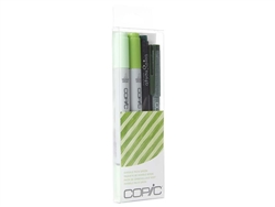 Copic Ciao 4pc Doodle Pack Green marker set