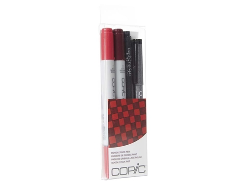 Copic Ciao 4pc Doodle Pack Red marker set