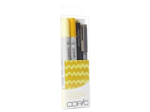 Copic Ciao 4pc Doodle Pack Yellow marker set