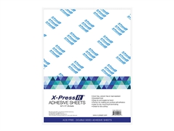 X-Press It High Tack Double Sided Adhesive Sheet 8.5 inchx11 inch (25 sheets)