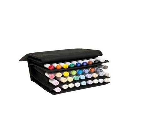 * COPIC 36pc Empty Wallet for Marker Storage Organizer Carrying Case with Velcro