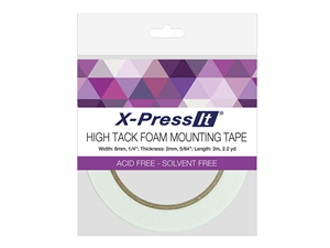 X-Press It High Tack Foam Tape (1/4 inch x 2.2yds)