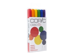 Copic Ciao 6 Piece Kit Primary Tone Colors